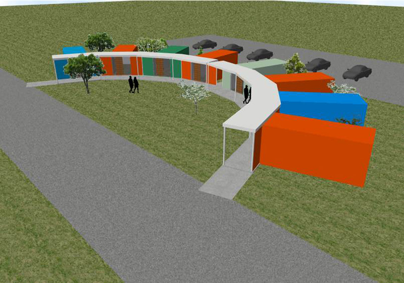 敷地が未定の時点で描かれた第一案スケッチ(提供:NAKANO☆DESIGN一級建築士事務所 中野 一敏)