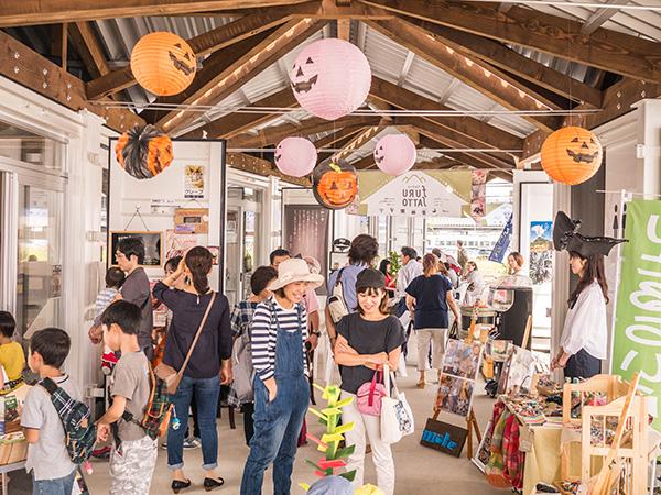 2016年9月に実施した「一箱古本市」